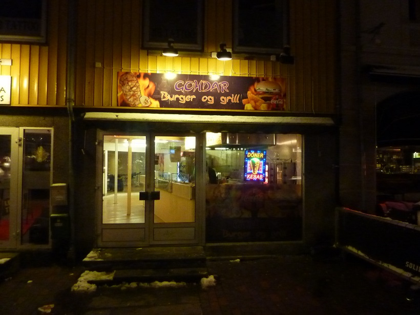 The Arctic Kebab shop in Tromso, Norway