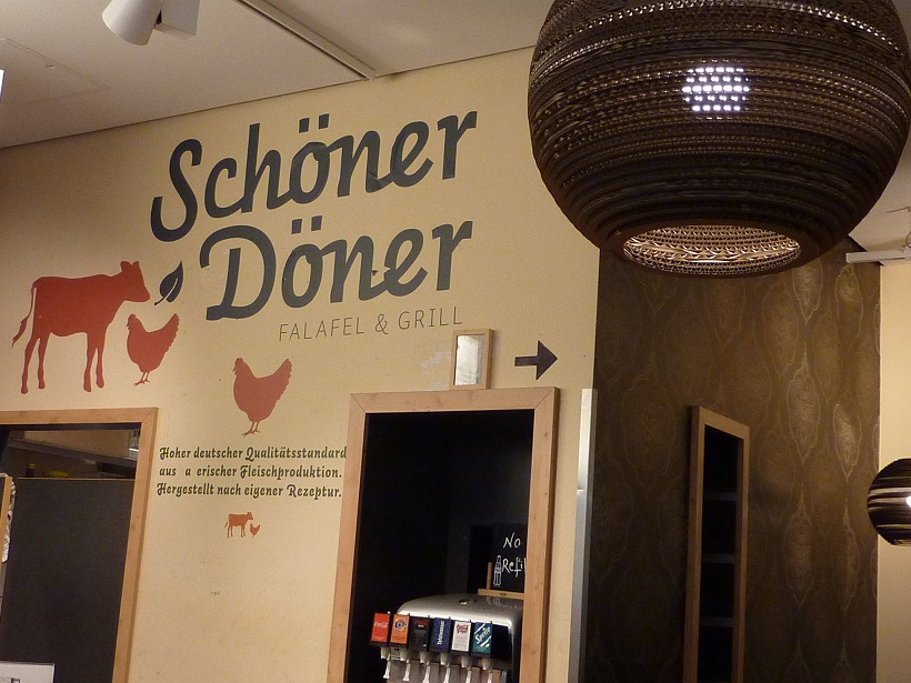The Schöner Döner kebab shop in Sony centre, Berlin.