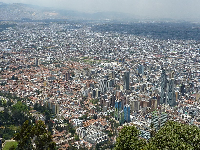 Bogota in Colombia, setting for the Colombian kebab