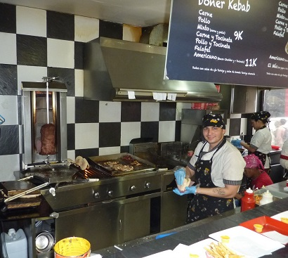 Kebab chefs in bogota are male and female