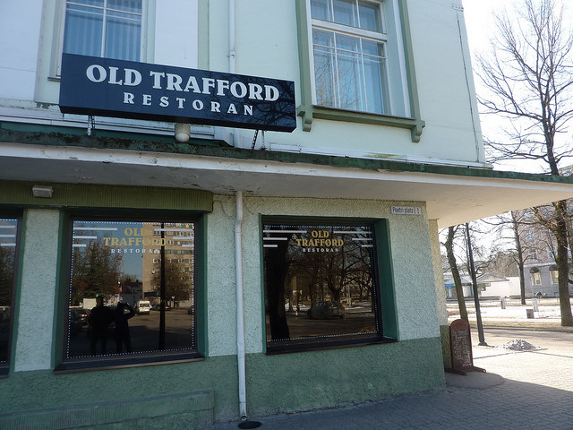 Old Trafford restaurant in Narva, Estonia