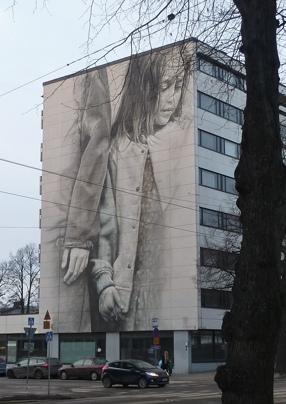 Even the street art in Finland seems depressed