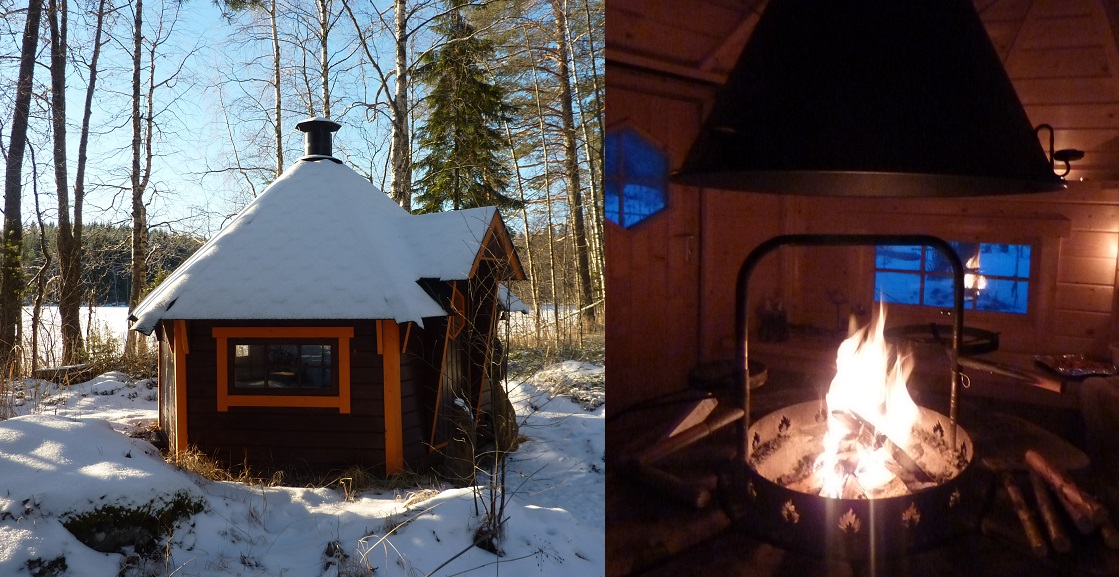 The charcoal-fired grillhouse by a lake in Finland