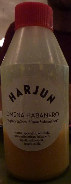 Homemade apple habanero hot-sauce from doner harju