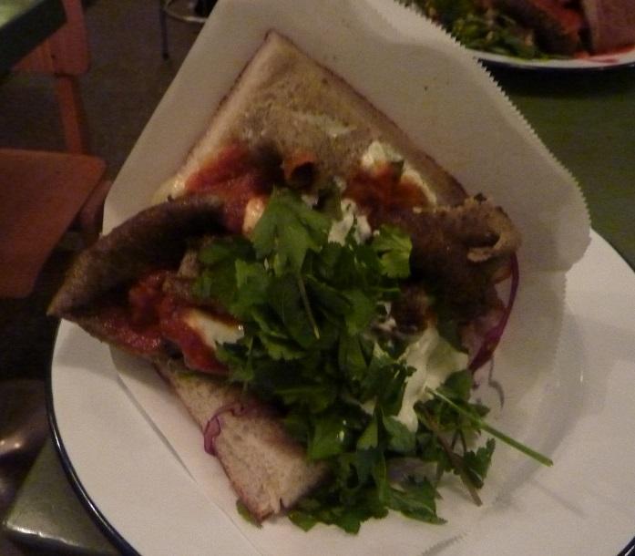 Lamb kebab in bread from Doner Harju