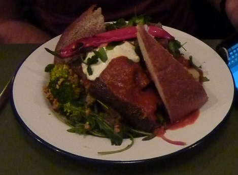 Lamb kebab on a plate from Doner Harju