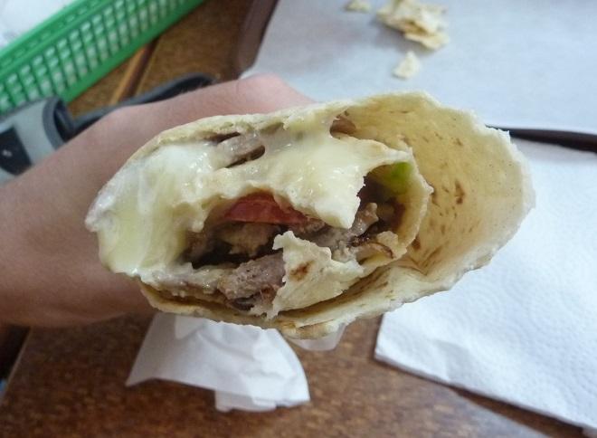 Beef kebab in Guatemala City