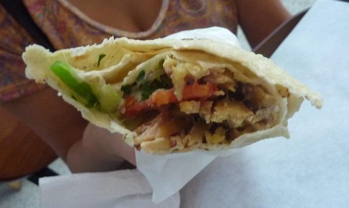 Chicken kebab in Guatemala