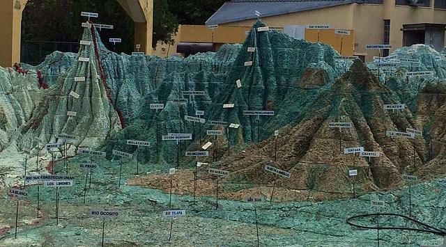 Mapa en relieve Guatemala City