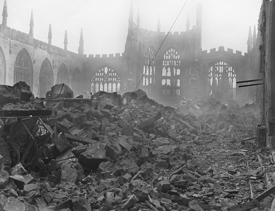 Coventry after the bombs of world war II