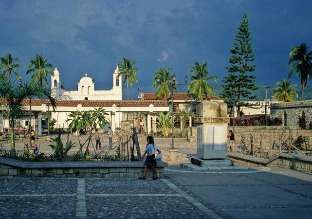 Town of Copan Ruinas in Honduras