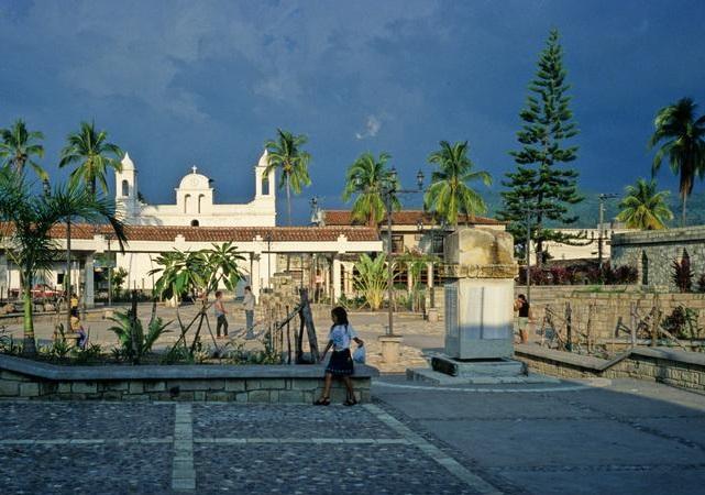 Town of Copan Ruinas in Honduras