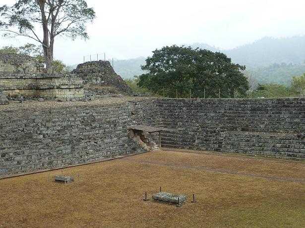 Mayan ballcourt in Copan Honduras