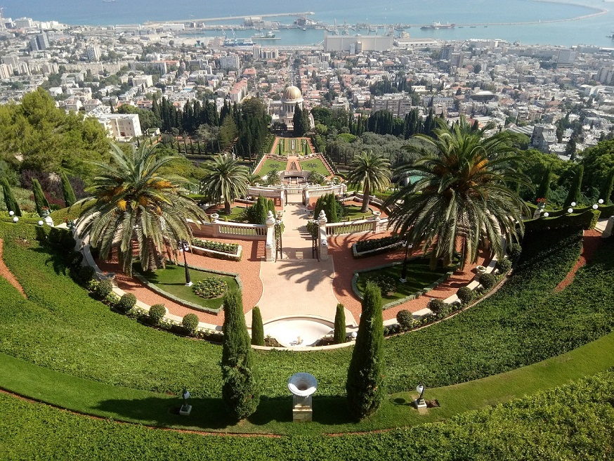Bahai gardens in Haifa. I could eat a kebab up here.