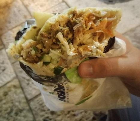 Shawarma laffa kebab from Jerusalem