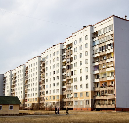 Soviet style housing in Riga