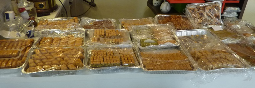 Baklava is a sideline of the kebab shop: not enough people want kebab!