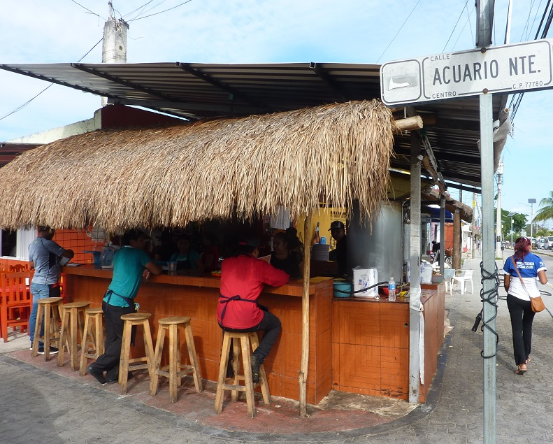 Mexican kebab shop in Tulum