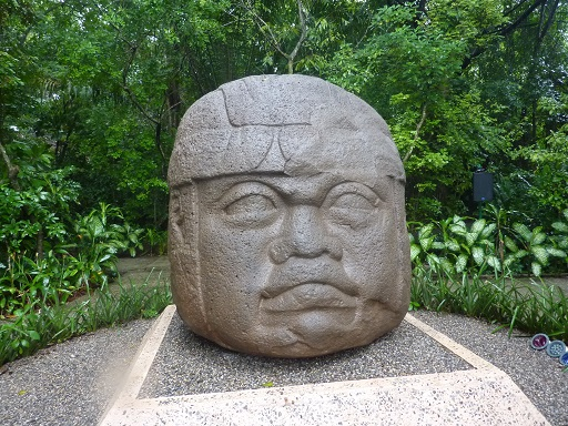 Olmec statue in Villahermosa, Mexico