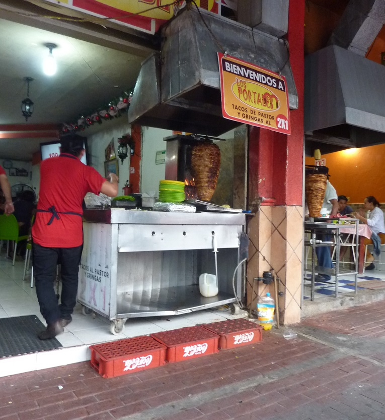 Kebab shop in Mexico, al pastor