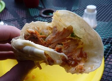 Gringa al pastor, kebab in Mexico