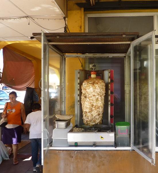 Nicaraguan ele-leg kebab