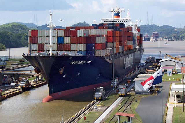 Panama canal boat
