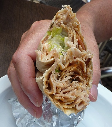 Dirty doner kebab from Porto, Portugal