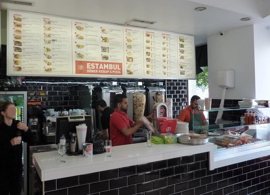 Estambul kebab shop in Porto, Portugal