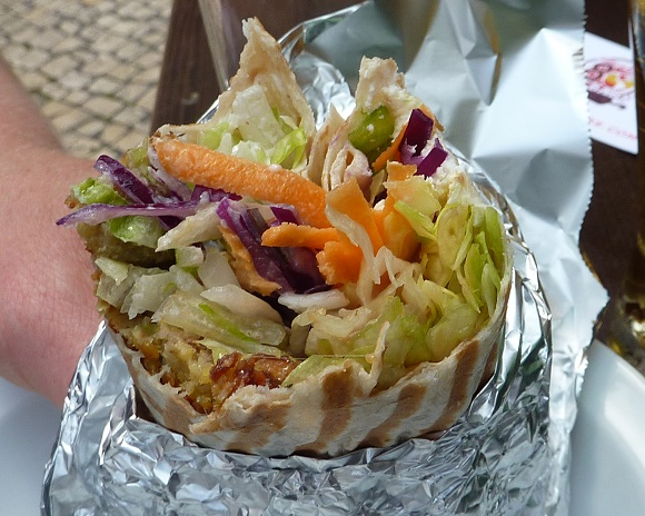 Falafel kebab from Porto, Portugal