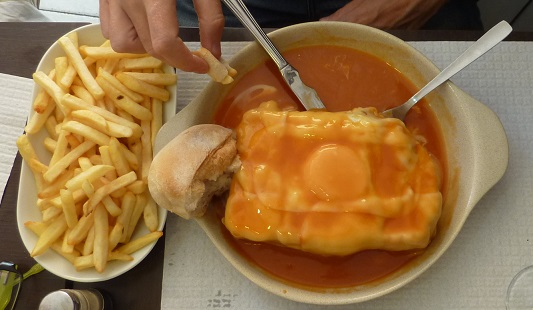 Not a kebab: it's a Francesinha from Porto, Portugal