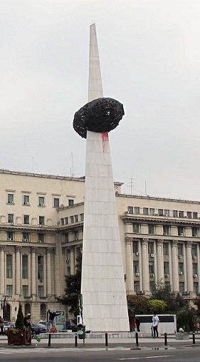 Monument to the kebab in Bucharest