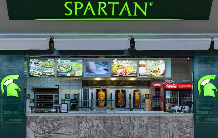Spartan kebab in the Coresi mall in Brasov, Romania