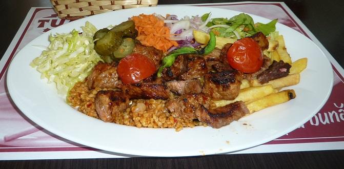 Turkish kebab in Romania