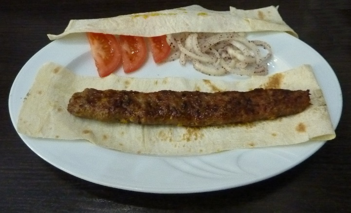 Kebabby sheesh kebab thing from Lviv: disappointing