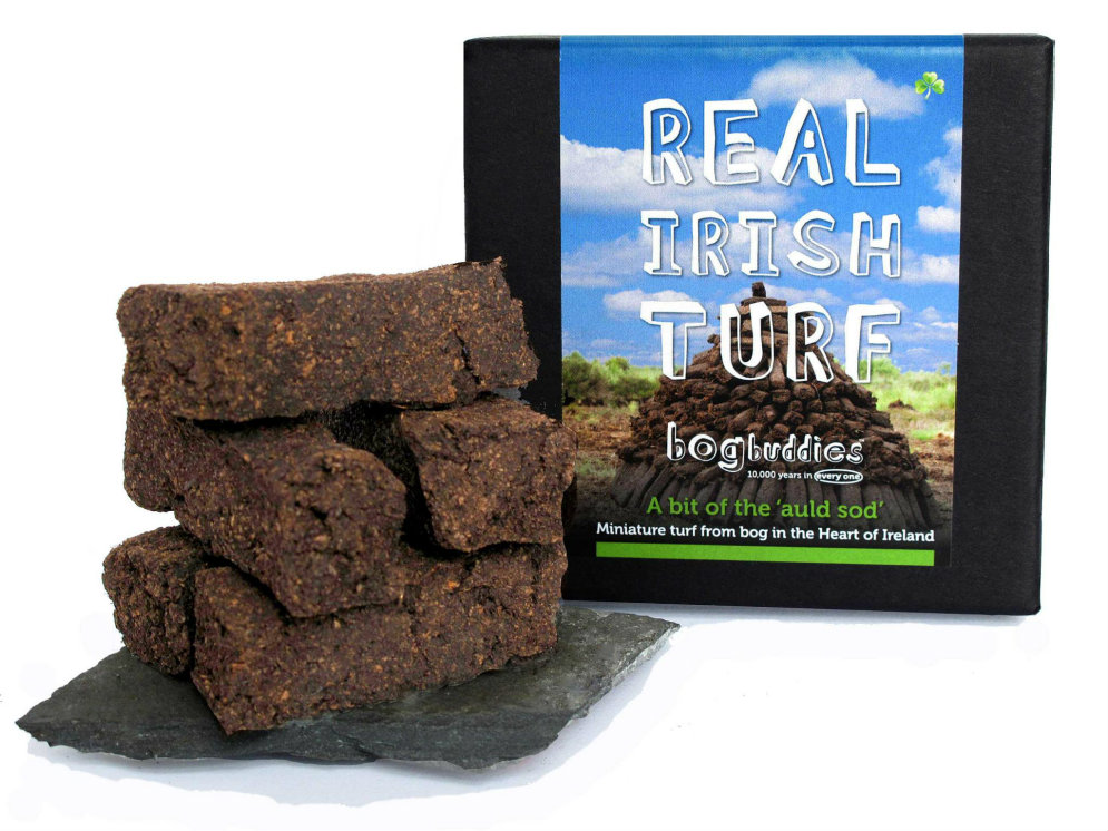 Peat turf, it looks a bit like our vegan kebab meat.